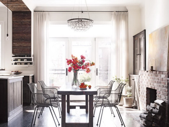 dining room-keri russell-celebrities at home-sohelee