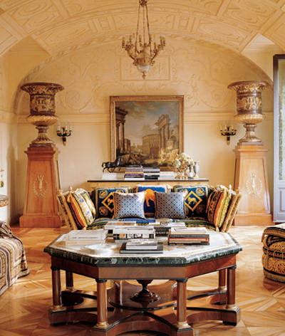 donatella versace's milan home-living room the celebrity way-sohelee