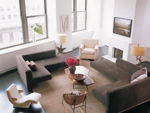 julianne moore's west village loft-living room the celebrity way-sohelee