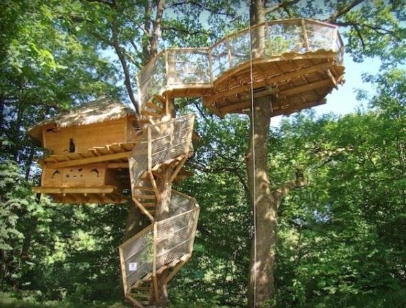 La Cabane Odyssée-staying on a tree or island-sohelee