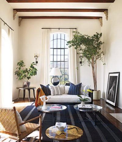 living room-ellen pompeo-celebrities at home-sohelee