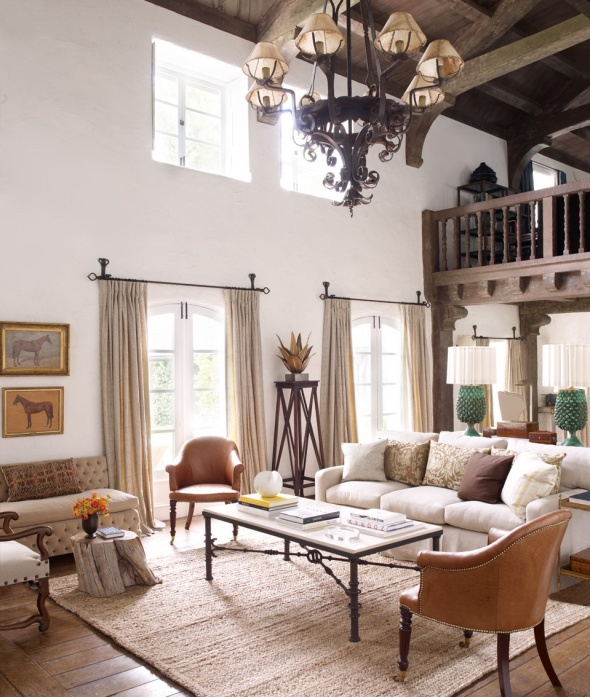 living room-reese witherspoon-celebrities at home-sohelee