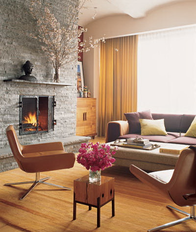 rob morrow and debbon ayer's manhattan home-living room the celebrity way-sohelee