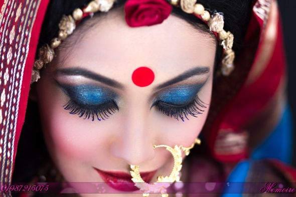 1st bridal make-up photo shoot by memoire weddings-sohelee6
