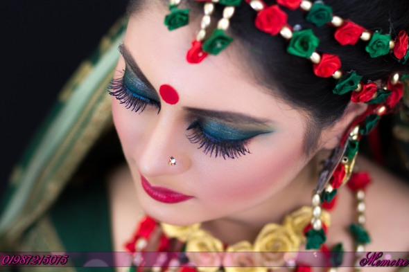 1st bridal make-up photo shoot by memoire weddings-sohelee4