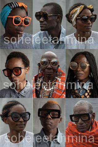 Visible ft. Kenyan Artisans in Karen Walker Spring 2014 Eye-wear Campaign- Sohelee1