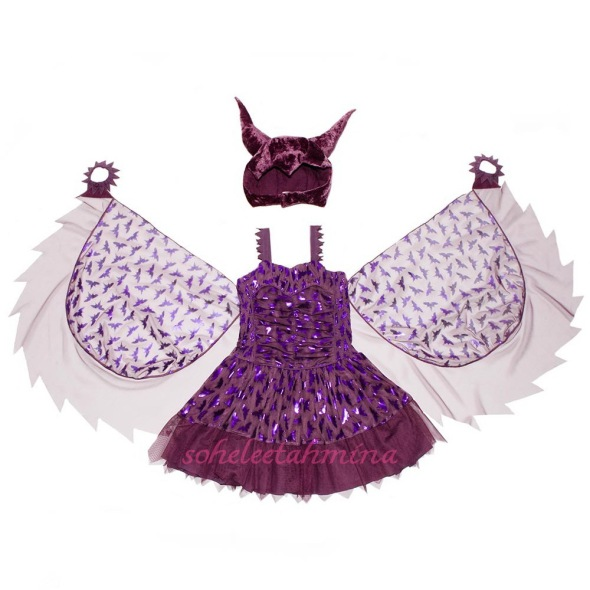 Maleficent Tulle Dress with Headdress n Wings- Disney Maleficent Stella McCartney Kids Collection 2014- Sohelee