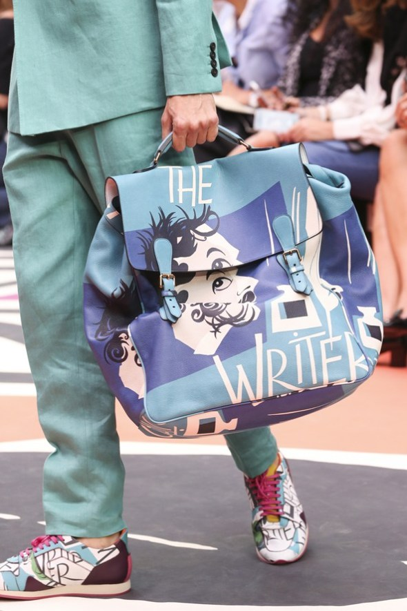Book Cover Print Bag and Field Sneakers- Burberry Prorsum SS15- LFW14- Sohelee