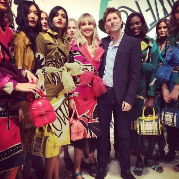 Christopher Bailey with Models- Burberry Prorsum SS15- LFW14- Sohelee
