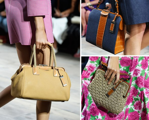 Crocodile Leather with Mixed Materials Bags- Michael Kors SS15- NYFW14- Sohelee11