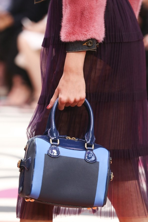 Denim and Patent Leather Bee Bag- Burberry Prorsum SS15- LFW14- Sohelee