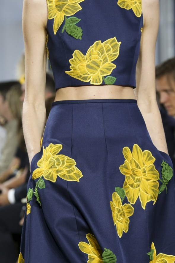 Floral Applique Crop Top and Skirt- Michael Kors SS15- NYFW14- Sohelee