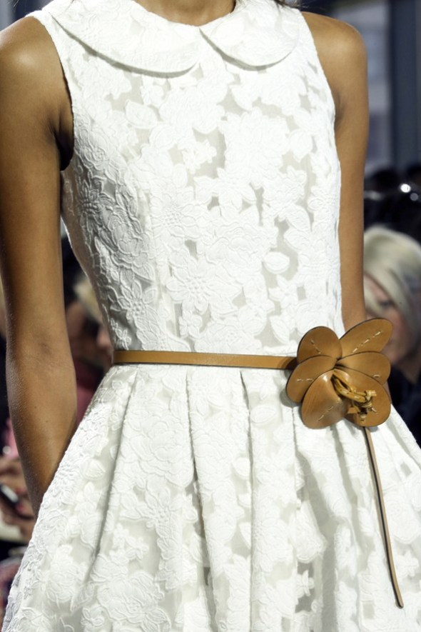 Floral belt and dress- Michael Kors SS15- NYFW14- Sohelee