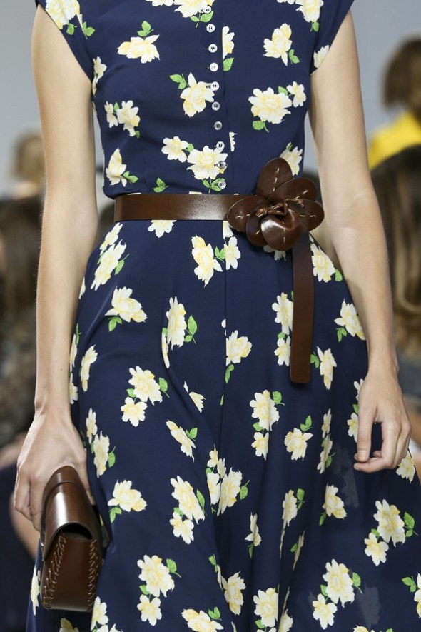 Floral Dress, Belt & Bag- Michael Kors SS15- NYFW14- Sohelee