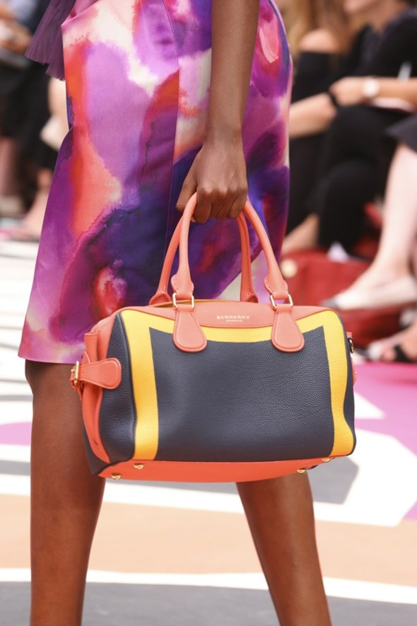 Hand Painted Leather Bee Bag- Burberry Prorsum SS15- LFW14- Sohelee