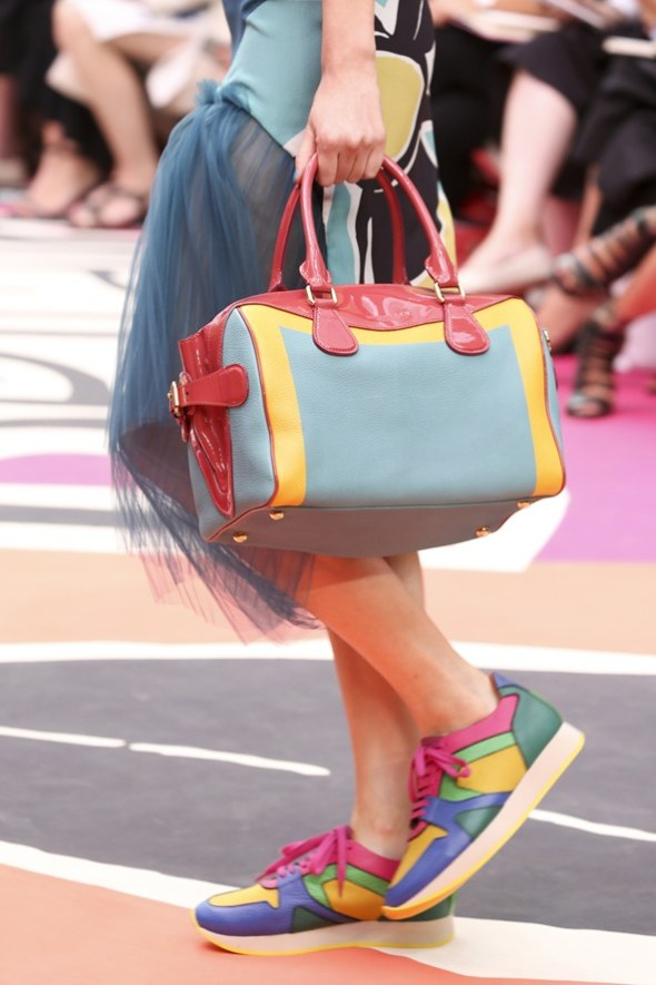 Hand Painted Leather Bee Bag- Burberry Prorsum SS15- LFW14- Sohelee1