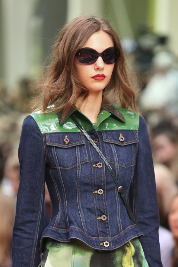 Wasp Waist Denim Jacket and Butterfly Shades- Burberry Prorsum SS15- LFW14- Sohelee7