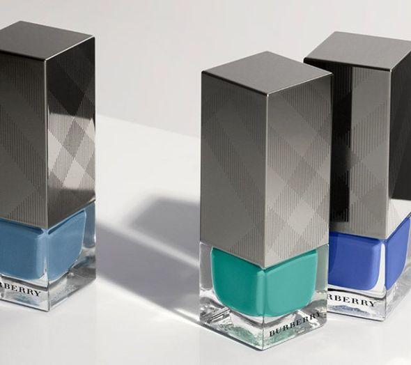 Runway Nail Collection in Blue Tones- Burberry Prorsum SS15- LFW14- Sohelee1