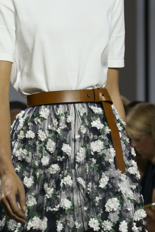 White T-shirt with Floral Skirt- Michael Kors SS15- NYFW14- Sohelee