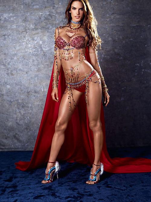 Alessandra Ambrosio - Victoria's Secret $2 Million 'Fantasy Bra' 2014- $2 Million Bra's'