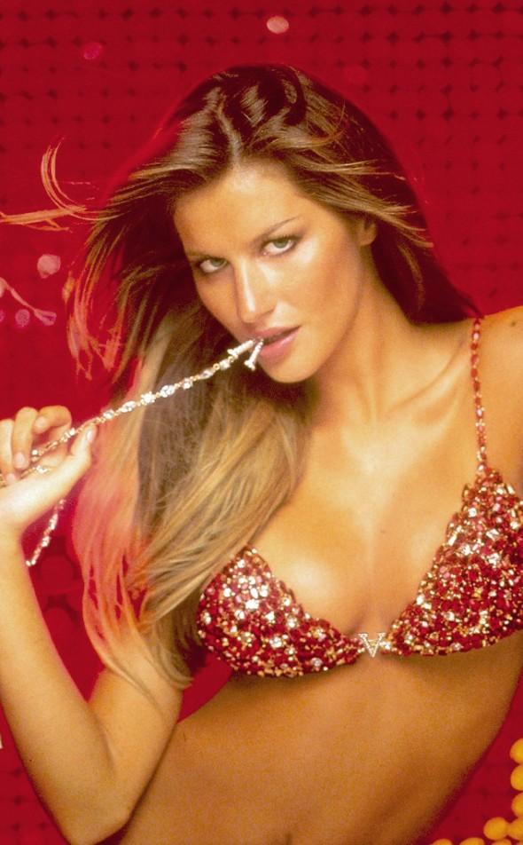Victoria's Secret Fantasy Bra through the years - Gisele Bundchen 2000